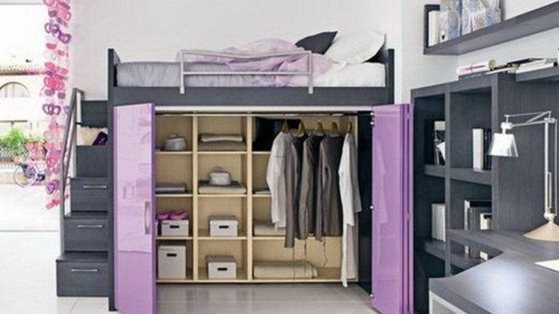 Trend Boxcase Girls Loft Bed Bedroom Furniture