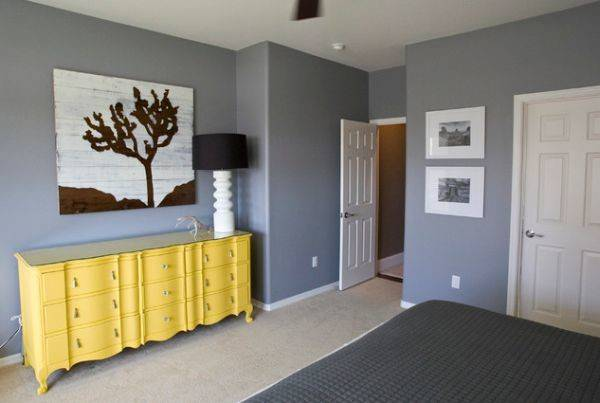 Trendy Color Combo Grey Yellow Perfect Both