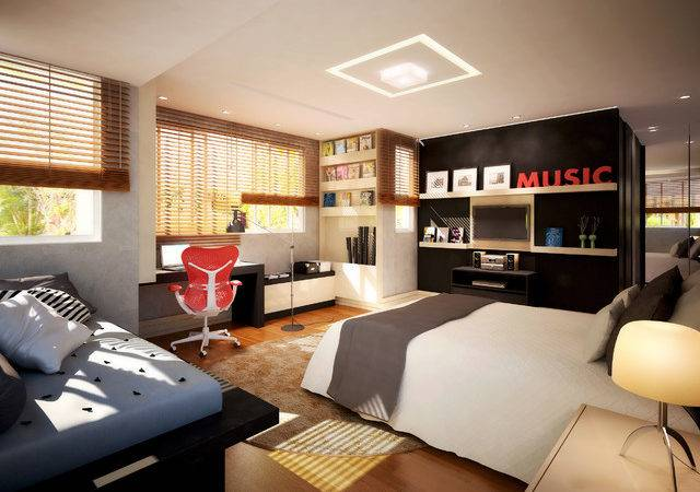 Trendy Young Guys Bedroom Modern Other Metro