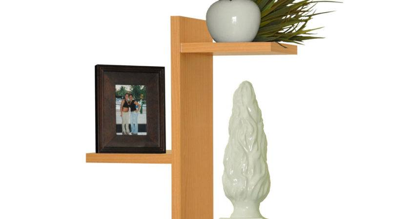 Trio Floating Wood Wall Shelf Mounted Shelves