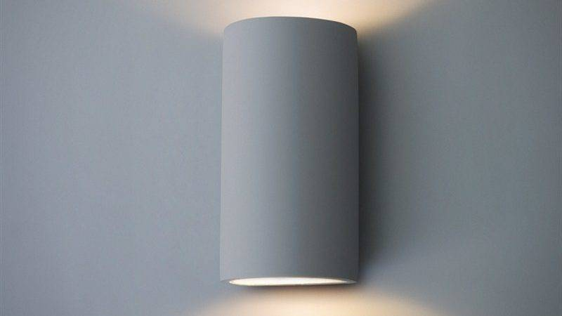 Troika Double Led Wall Lamp Plaster Garden Trading