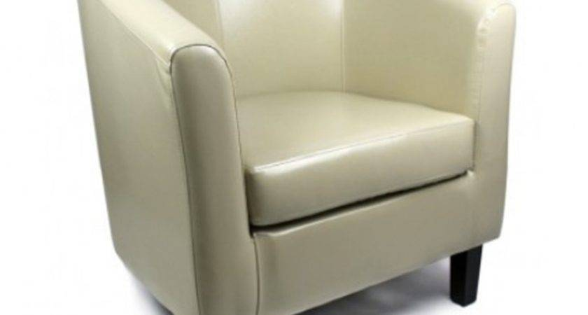 Tub Chair Duck Egg Leather Marks