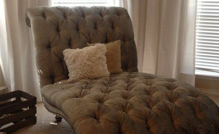 Tufted Double Chaise Lounge Chair Our Master Bedroom