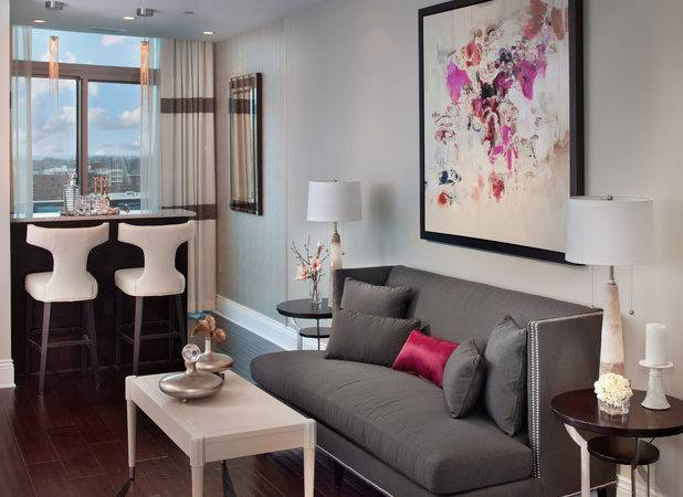 Turnberry Tower Arlington Contemporary Living Room
