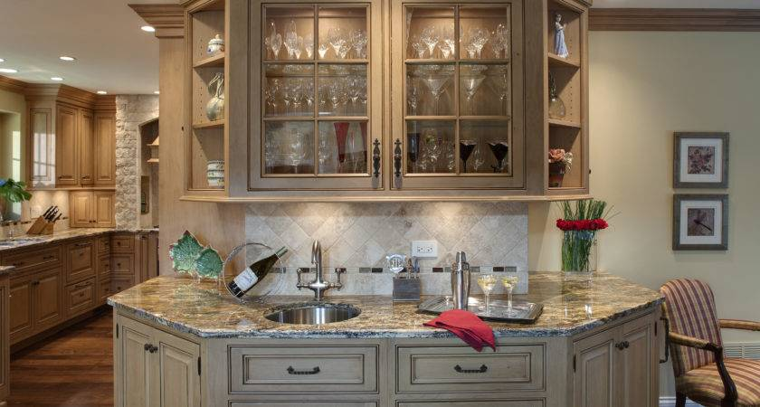 Tuscan Style Kitchen Cabinet White Wooden Tone