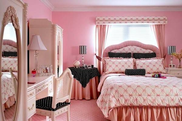 Tween Room Polk Dots Using Pattern Kids Rooms