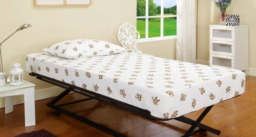 Twin Bed Pull Out Slide Trundle Underneath
