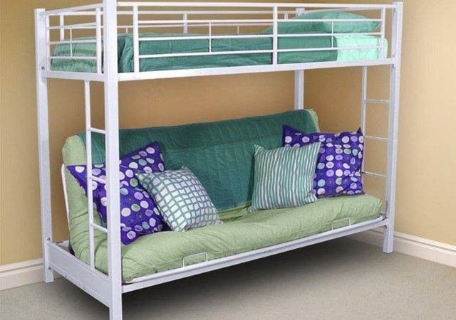 Twin Bunk Bed Over Futon Sofa Contemporary Beds