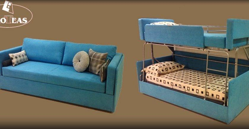 Twinny Couch Morphs Into Bunk Bed Within Seconds