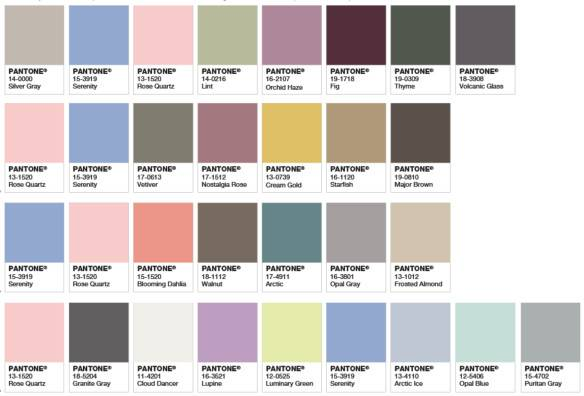 Two Love Pantone Colors Year Graphic
