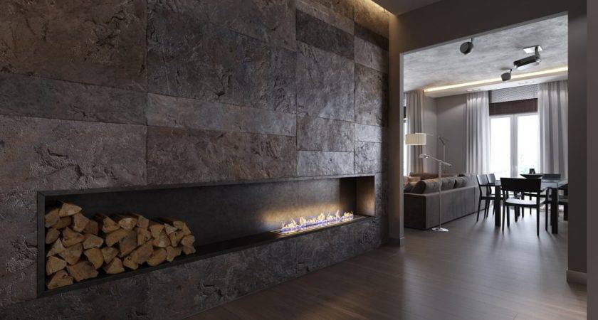 Ultramodern Fireplace Interior Design Ideas