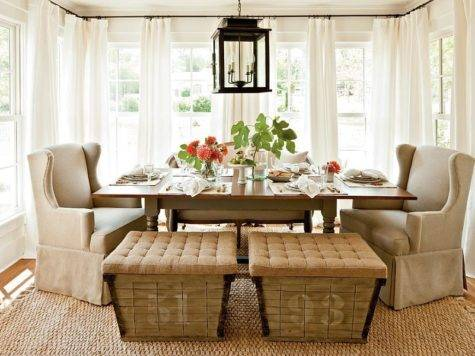 Unassumingly Chic Farmhouse Style Dining Room Ideas
