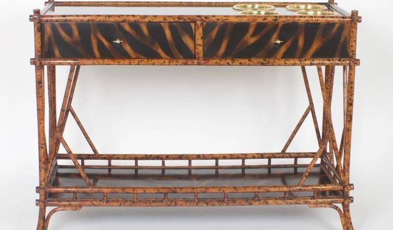 Unconventional Mid Century Faux Bamboo Server Sale