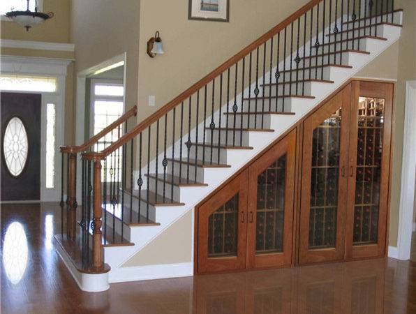 Under Stairs Wine Cabinets Traditional Staircase