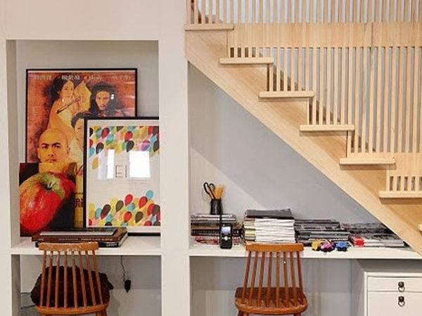 Understairs Work Space Storage Ideas