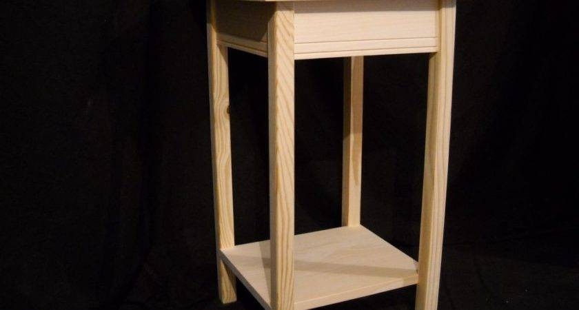 Unfinished Wooden Small Dorm Table Night Stand End
