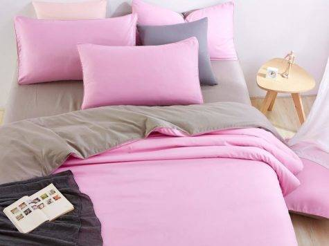 Unikea Good Quality Home Bedding Sets Pink Duver Quilt