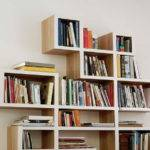 Unique Design Criss Cross Bookshelf White Wall