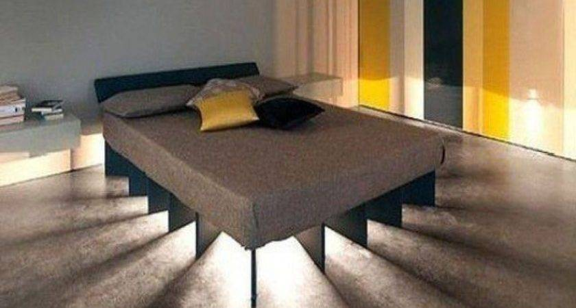 Unique Floating Bed Frame Lighting Decofurnish