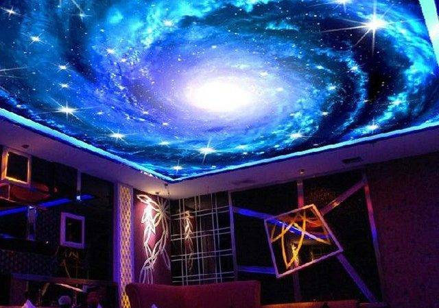 Universe Space Ceiling Murals Wall