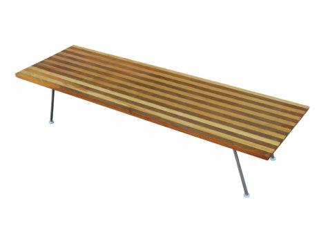 Unusual Small Coffee Table Striped Wood