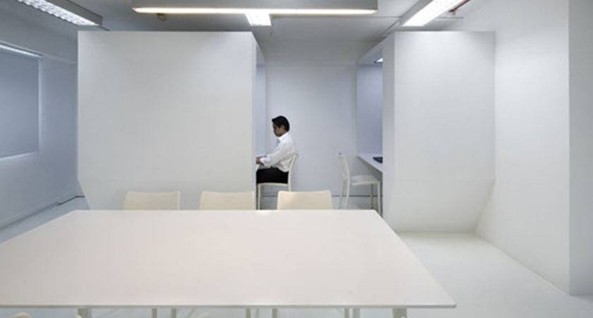 Unusual White Office Space Interiors