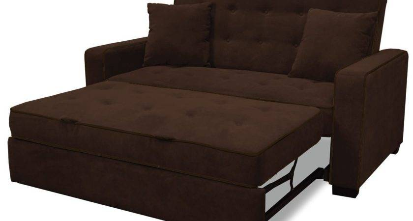 Upholstered Modern Space Saving Futon Sofa Bed Queen