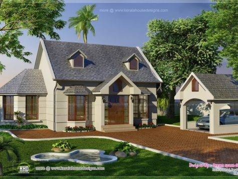 Vacation Garden Home Design Feet Kerala