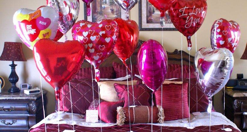 Valentine Day Bed Room Decoration Ideas