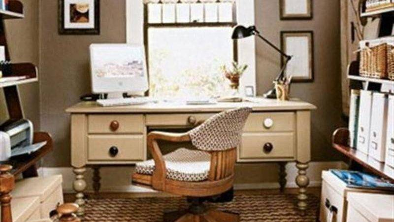 Variety Small Home Office Space Design Decorating