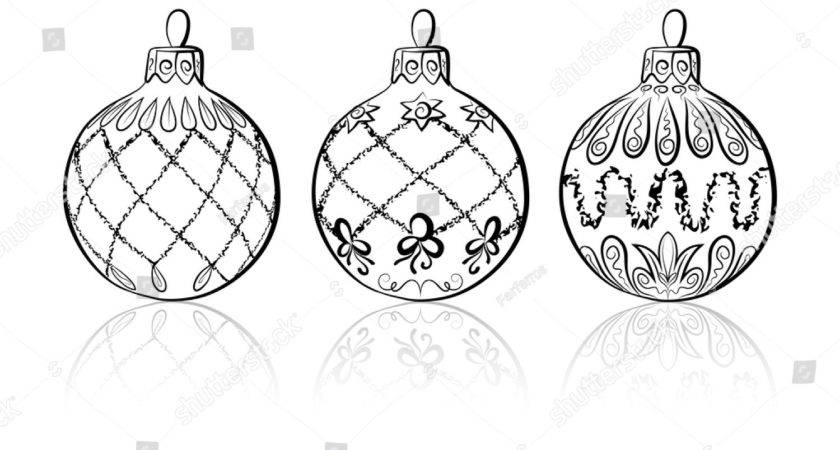 Vector Sketch Three Christmas Balls