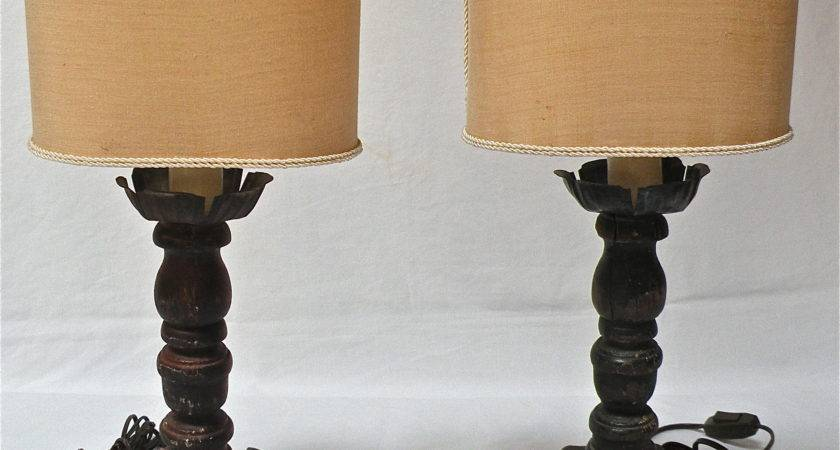 Venetian Style Wood Lamps Pair Omero Home
