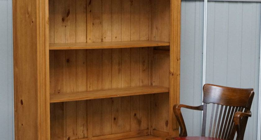 Very Grand Large Solid Pine Farmhouse Country Bookcase