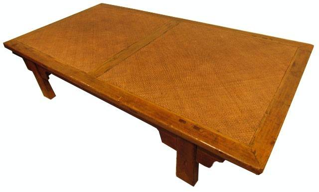 Very Large Low Antique Style Japanese Rustic Teak
