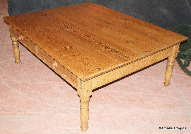 Very Large Pine Coffee Table Antique Tables