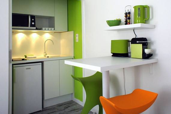 Very Small Apartment Design Colorful Pop Decorating