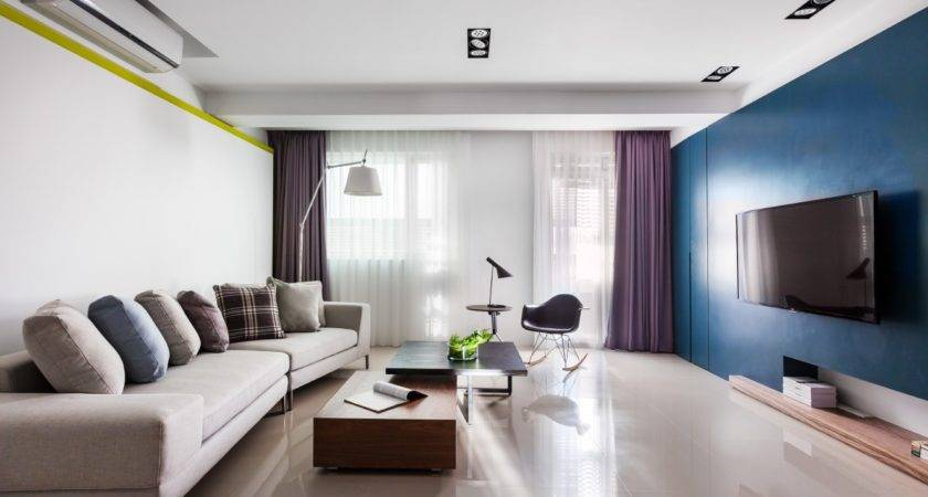 Vibrant Blue Purple Apartment Decor