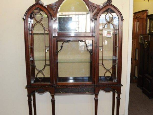 Victorian Gothic Style Display Cabinet