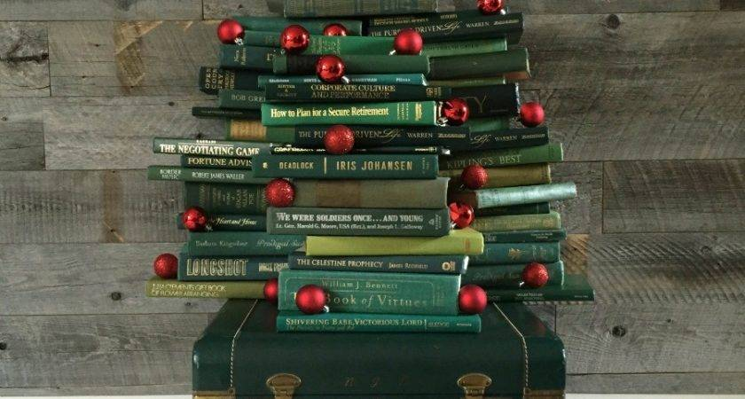 Vintage Book Christmas Tree Blissful Nest