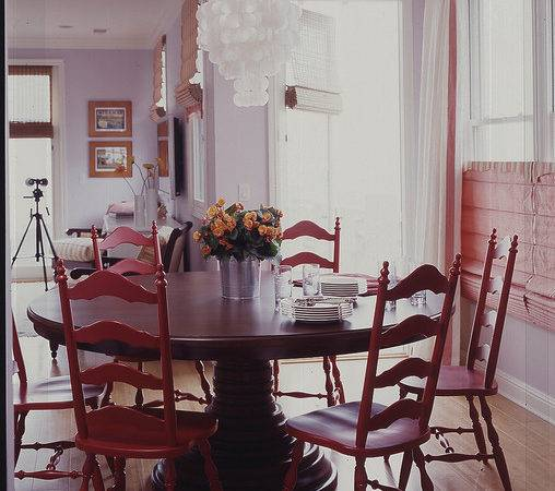 Vintage Chairs Dining Room Eclectic