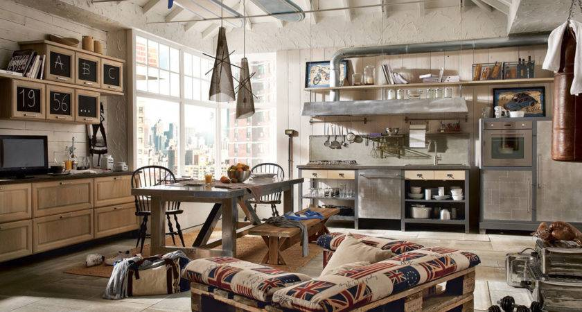 Vintage Industrial Style Kitchens Marchi Cucine