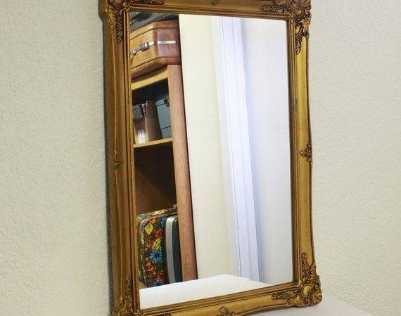Vintage Wall Mirror Hanging Gold Ornate