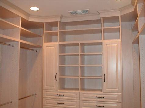 Walk Closet Design Ideas Limited Storage