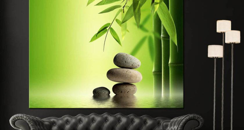 Wall Art Canvas Giclee Print Spa Zen Colorful
