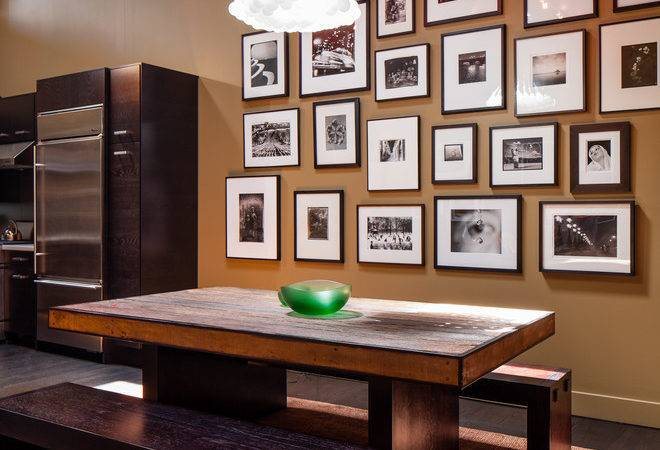 Wall Decor Collage Dining Room Contemporary
