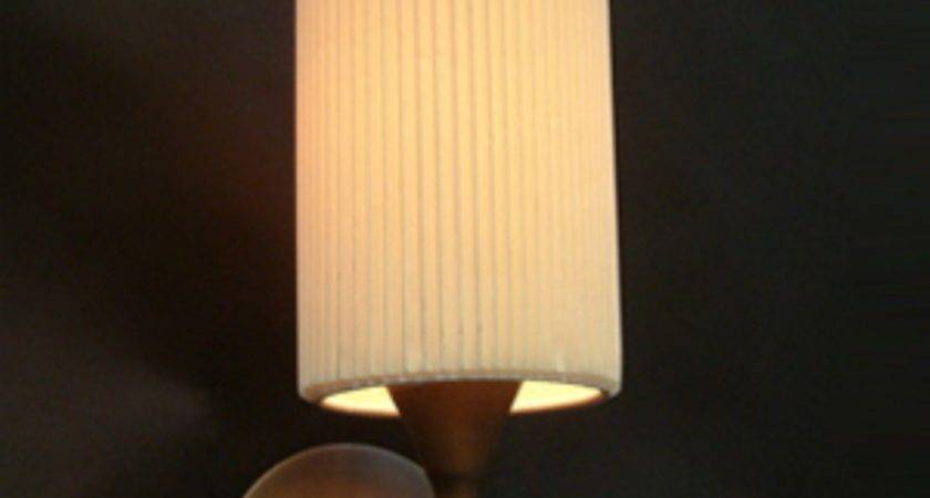 Wall Light Antique Finish Cream Pleated Shade
