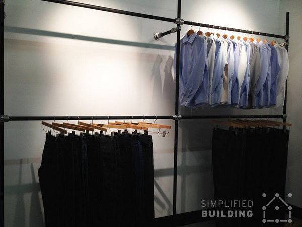 Wall Mounted Clothing Racks Them Effectively