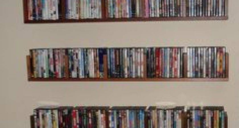 Wall Shelves Dvds Mounted