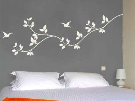 Wall Stickers Bedrooms Grasscloth