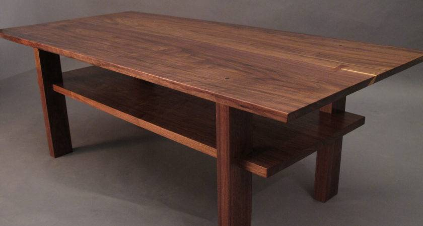 Walnut Coffee Table Small Wood Tables Living Room Narrow